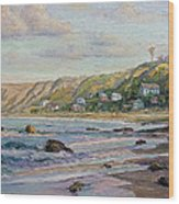 Sunrise At Crystal Cove Cottages Wood Print