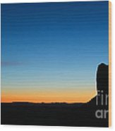 Sunrise At Monument Valley Wood Print