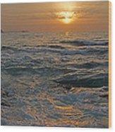 Sunrise At Portscatho Wood Print