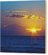 Sunrise At The Beach II Wood Print