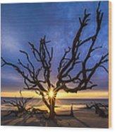 Sunrise Jewel Wood Print by Debra and Dave Vanderlaan