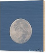 Sunrise Moon Wood Print