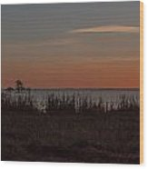 Sunrise On Lake Mattamuskeet Wood Print
