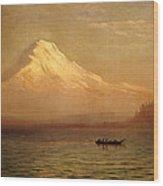 Sunrise On Mount Tacoma Wood Print