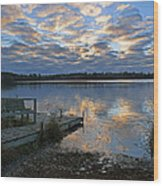 Sunrise On Silver Lake Wood Print