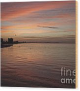 Sunrise Over Fort Myers Beach Photo Wood Print