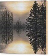 Sunrise-sundown Wood Print