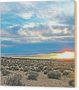Sunset At Alstrom Point In Glen Canyon National Recreation Area-utah Wood Print