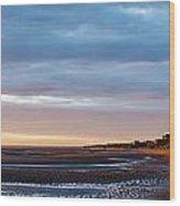 Sunset At First Encounter Beach Wood Print