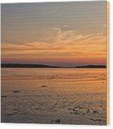 Sunset At Loch Bay Wood Print