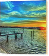 Sunset At The Cape Wood Print