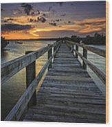 Sunset At Wildcat Cove Wood Print