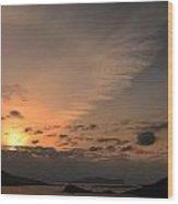 Sunset Blasket Islands Wood Print