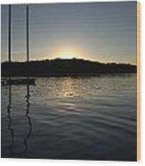 Sunset On The Pier Wood Print