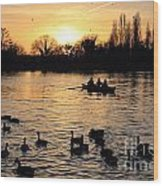 Sunset On The Thames At Walton Wood Print