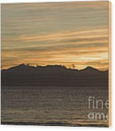 Sunset Over Arran Wood Print