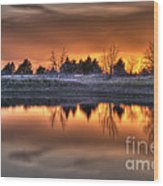 Sunset Over Bryzn Wood Print