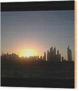 Sunset Over Dubai Feb 2013 Wood Print by Maeve O Connell