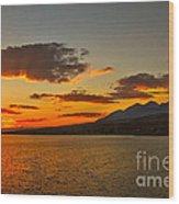 Sunset Over Mackay Reservoir Wood Print