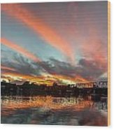 Sunset Over New Hope Wood Print