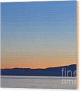 Sunset Over Strait Of Georgia Wood Print
