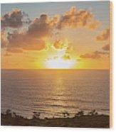 Sunset Over The Pacific Ocean, Torrey Wood Print