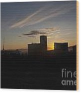 Sunset Over The Skyline Of Vancouver Wood Print
