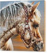 Sunset Pony Wood Print