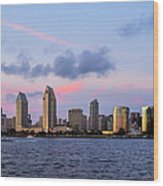 Sunset San Diego Bay Wood Print