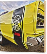 Super Close Super Bee  Wood Print