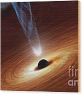 Supermassive Black Hole, Artwork Wood Print