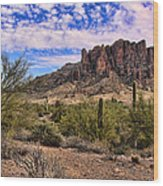 Superstition Mountains Wood Print