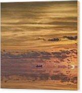 Supertanker Sunset V6 Wood Print