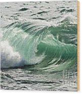 Surf Zone At The Barents Sea Coast Wood Print