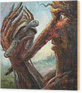 Surprise Encounter Wood Print by Frank Robert Dixon