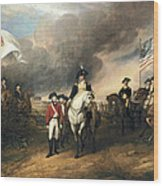 Surrender Of Lord Cornwallis Wood Print by John Trumbull