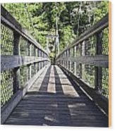 Suspension Bridge Wood Print by Susan Leggett