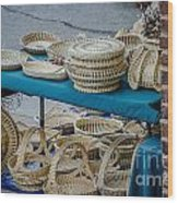 Charleston Sweet Grass Baskets Wood Print