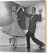 Swing Dancing Couple Wood Print