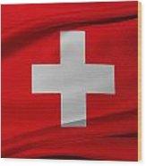 Swiss Flag Wood Print