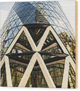 Swiss Re Tower In London Wood Print