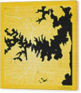 Sydney Street Map - Sydney Australia Road Map Art On Color Wood Print