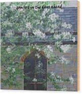 Sympathy Card With Church Wood Print