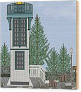 Table Bluff Lighthouse California Wood Print