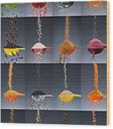 1 Tablespoon Flavor Collage Wood Print by Steve Gadomski