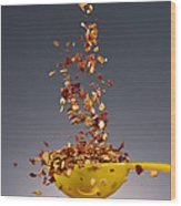 1 Tablespoon Red Pepper Flakes Wood Print