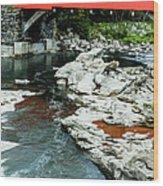 Taftsville Covered Bridge Vermont Wood Print