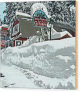 Tahoma Meadows Cottages Wood Print
