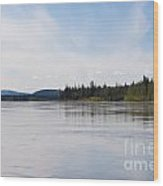 Taiga Hills At Yukon River Near Dawson City Wood Print