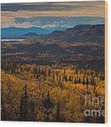 Taiga In Fall Wood Print